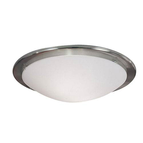 Milli Modern Lighting Brink Matte Nickel Two-Light Flush Mount