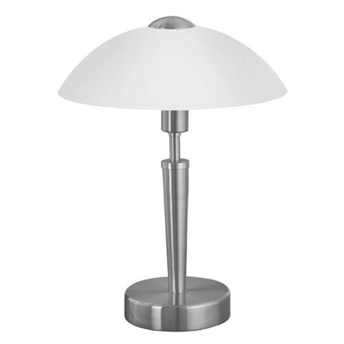 Milli Modern Lighting Halo Matte Nickel One-Light Table Lamp