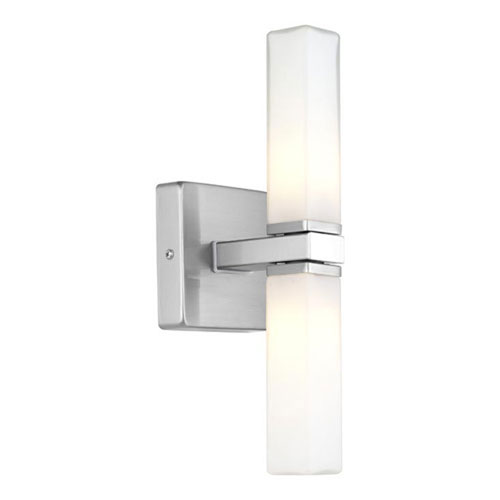 Palms Matte Nickel Two-Light Wall Sconce