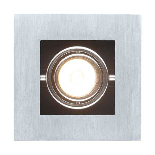 Tufts Brushed Aluminum, Chrome and Black One-Light Spot Light