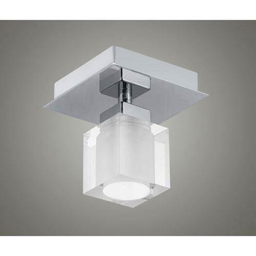 Matte Nickel One-Light Semi-Flush Mount