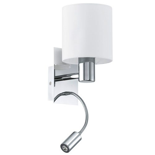 Milli Modern Lighting Summit Chrome Two-Light LED Wall Sconce
