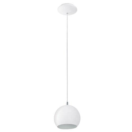 Pinto Steel and White One-Light Mini Pendant