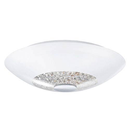 Milli Modern Lighting Indie Chrome 13-Inch Two-Light Semi-Flush Mount