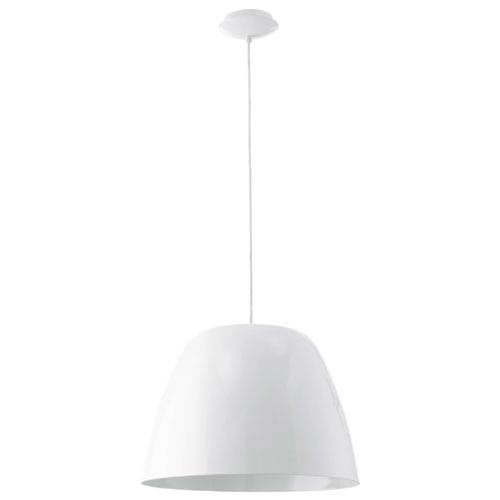 Phoebe Steel and Glossy White One-Light Pendant