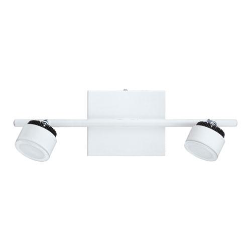 Thompson White and Black Two-Light LED Track Light