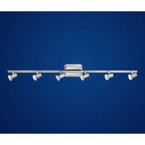 Rottelo Matte Nickel/ Chrome Six Light Directional Spotlight