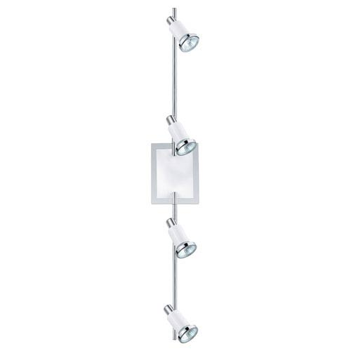 EGLO Eridan Chrome and Shiny White Four-Light Track Light