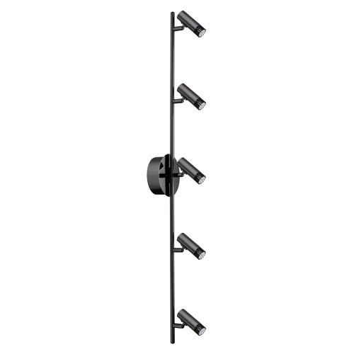 Lianello Black Chrome 39.5-Inch Five-Light LED Track Light