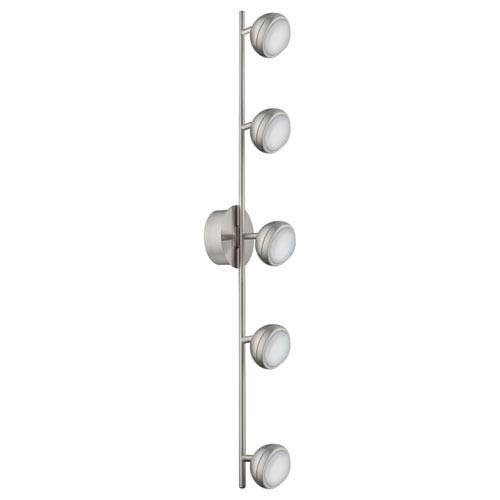 Clearance track lighting bellacor lombes led matte nickel five light track light clearance aloadofball Choice Image