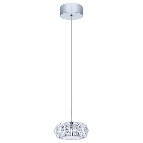 Corliano LED Chrome One-Light Mini Pendant
