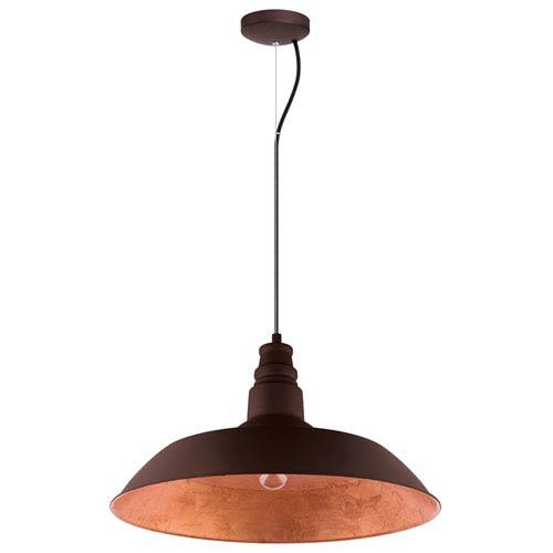 Somerton 2 Chocolate Brown 22-Inch One-Light Pendant