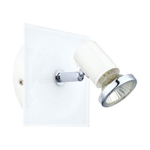 Tamara 1 White and Chrome 5-Inch One-Light Wall Track Light