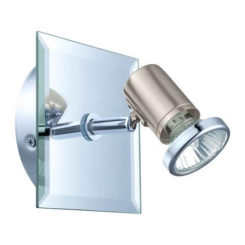 Tamara 1 Matte Nickel and Chrome 5-Inch One-Light Wall Track Light