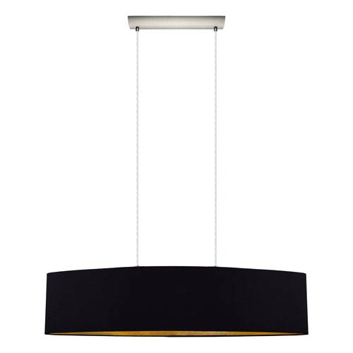 Maserlo 40-Inch Black and Gold Two-Light Pendant