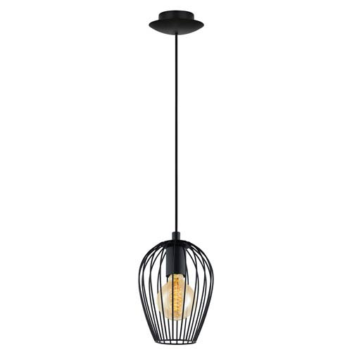 Newtown Matte Black One-Light Mini Pendant