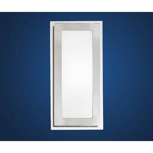 EGLO Eos Matte Nickel and Chrome One-Light Wall/Ceiling Light