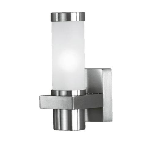 Konya Matte Nickel One-Light Outdoor Wall Light
