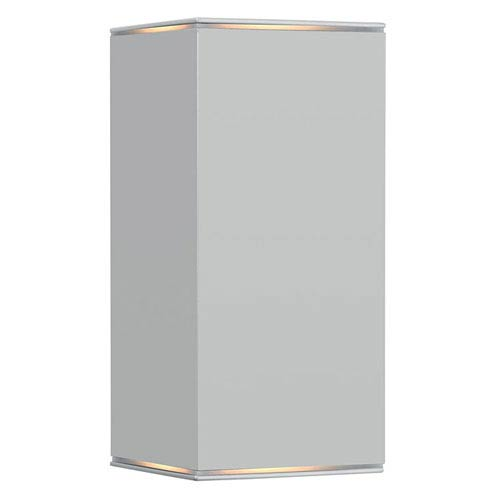 EGLO Tabo 1 Silver One-Light 8-Inch Outdoor Wall Mount with Clear Glass Diffuser