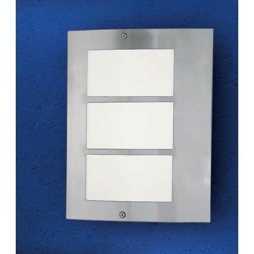EGLO City Stainless Steel One-Light Fluorescent Outdoor Wall Light