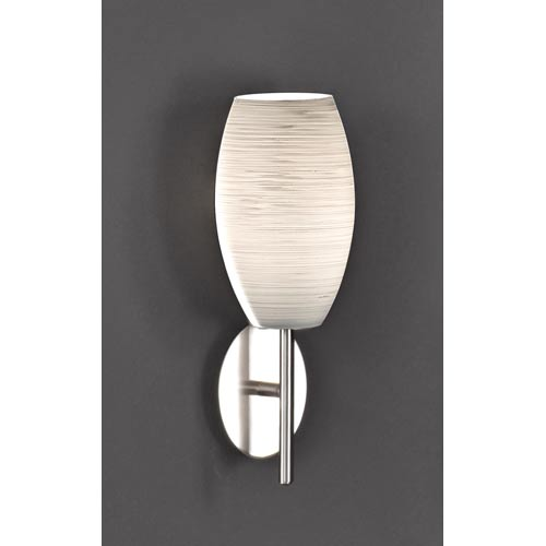 Batista 1 Matte Nickel One-Light Sconce
