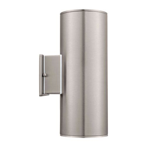 EGLO Ascoli Stainless Steel LED Two Light Wall Sconce