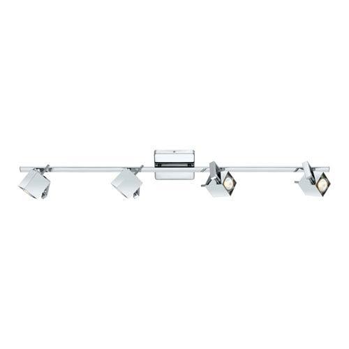 Manao Chrome Four-Light Track Light