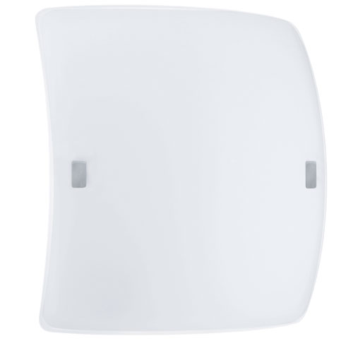 EGLO Borgo2 Matte Nickel LED 13.38-Inch Wide Wall Sconce w/ Opal Satin Glass