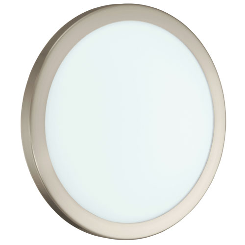 EGLO Arezzo Matte Nickel LED 13.63-Inch Wide Wall Sconce w/ Opal Satin Glass