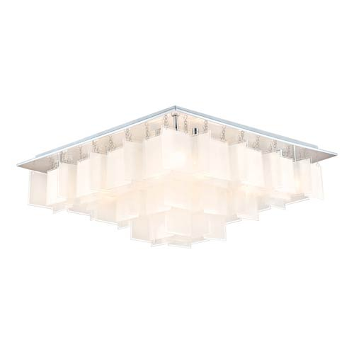 Eglo Condrada 1 Chrome 16 Light Flush Mount