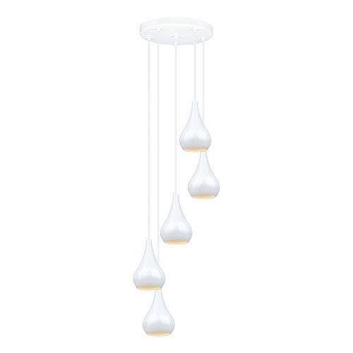 Nibbia White Five-Light Mini Pendant