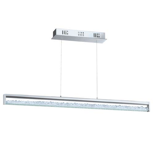 Cardito 1 Chrome 39.5-Inch Six-Light LED Pendant