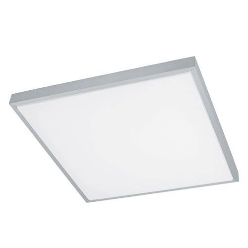 Idun 1 Brushed Aluminum 23-Inch One-Light LED Square Flush Mount