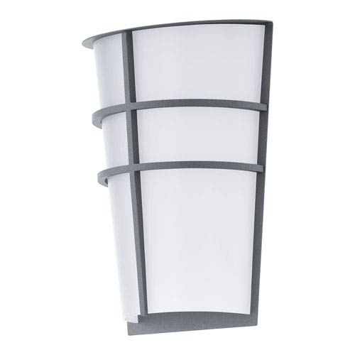 Breganzo Silver 7-Inch LED Outdoor Wall Sconce