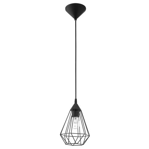 Tarbes 7-Inch Matte Black One-Light Mini Pendant