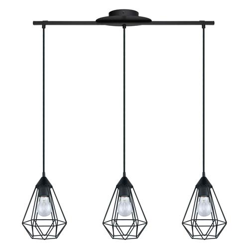 Tarbes Matte Black Three-Light Pendant