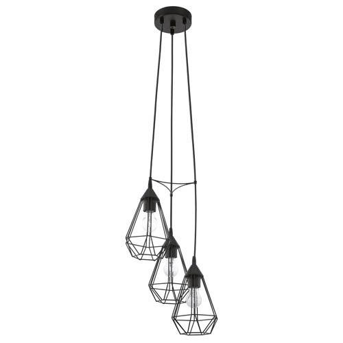 Tarbes Matte Black Three-Light Mini Pendant