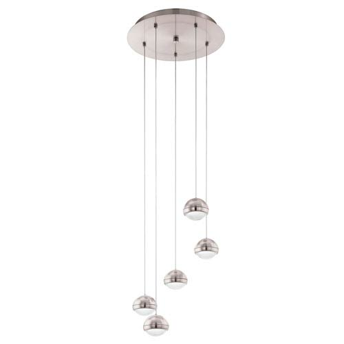 Lombes LED Matte Nickel Five-Light Mini Pendant