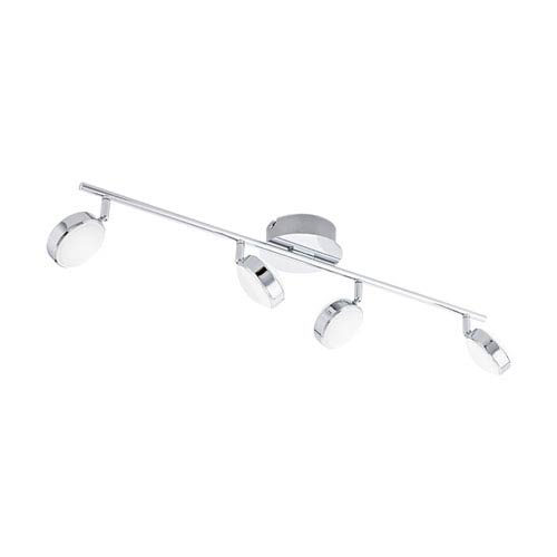 Salto Chrome Four-Light LED Track Light