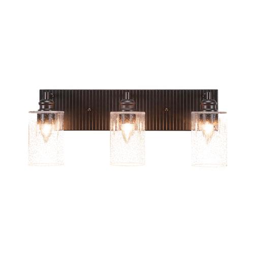 Toltec Lighting Edge Espresso Three-Light Bath Vanity