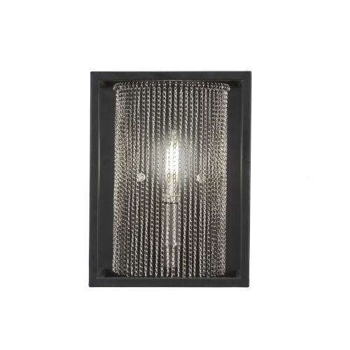 Cadina Matte Black and Brushed Nickel Seven-Inch One-Light Wall Sconce