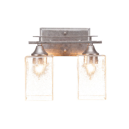 Uptowne Aged Silver 11-Inch Two-Light Bath Vanity