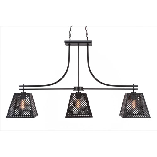 Toltec Lighting Corbello Espresso Three-Light LED Island Pendant