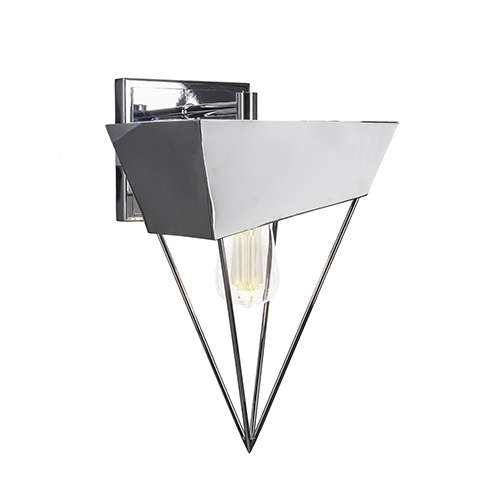 Neo Chrome Triangular 11-Inch One-Light Wall Sconce