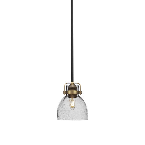 Easton Matte Black and Brass One-Light Mini Pendant