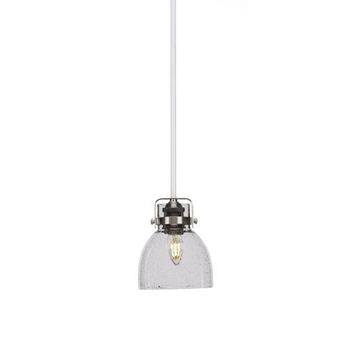 Easton White and Brushed Nickel One-Light Mini Pendant