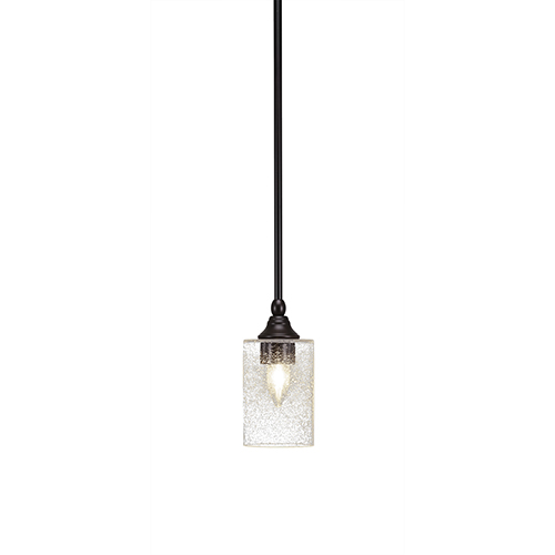 Any Espresso Six-Inch One-Light Mini Pendant with Clear Bubble Glass
