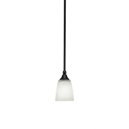 Any Espresso Seven-Inch One-Light Mini Pendant with White Muslin Glass