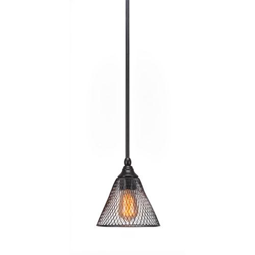 Toltec Lighting Stem Matte Black LED Mini Pendant