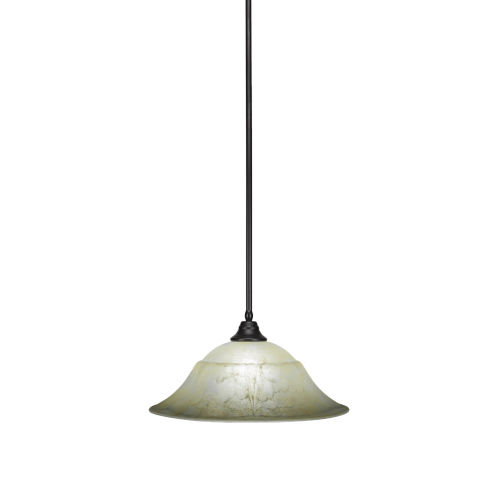 Any Espresso 20-Inch One-Light Pendant with Amber Marble Glass
